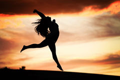 Dancing in the Sunset Royalty Free Stock Images