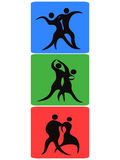 Dancing symbol buttons Royalty Free Stock Photography