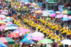 Dancing tailandese tradizionale nel festival 'Boon Bang Fai' di Rocket Immagini Stock
