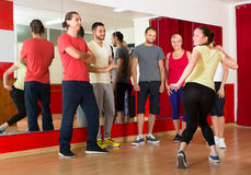 Dancing teacher showing new moves Stock Photography