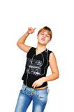Dancing teen Stock Photos