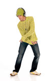 Dancing Teen headset Royalty Free Stock Image