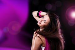 Dancing teenage girl Stock Image