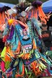 Dancing teenager del nativo americano Fotografia Stock Libera da Diritti