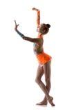 Dancing teenager della ragazza della ballerina Immagini Stock