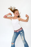 Dancing Teenager Girl Stock Image