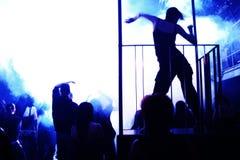 Dancing teenagers Stock Images