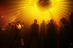 Dancing teenagers. Dancing people in an underground club Stock Photography