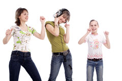 Dancing teens Royalty Free Stock Images
