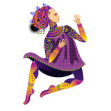 Dancing,theatrical actor Royalty Free Stock Images