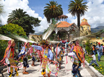 Dancing during Three Kings Day in Abancay Stock Photos