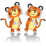 Dancing Tiger Royalty Free Stock Images