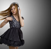 Dancing to the music Stock Photography