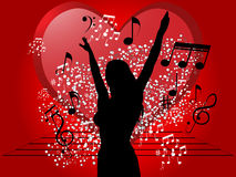 Dancing to the music Royalty Free Stock Photo