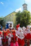 Dancing tradizionale Immagini Stock
