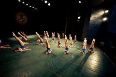 Dancing training girls Stock Image