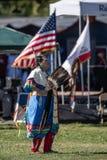 Dancing Tribal Elder stock photos