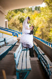 Dancing on tribunes Royalty Free Stock Photo
