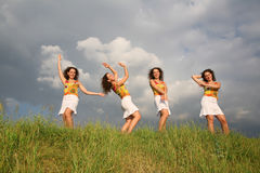Dancing twins Stock Images