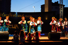Dancing Ukrainian girls Stock Images