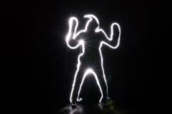 Dancing umano di inizio della sfuocatura Immagine Stock Libera da Diritti