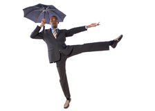 Dancing with an Umbrella Royalty Free Stock Image