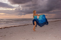 Dancing under clouds Royalty Free Stock Photo