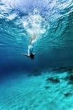 Dancing underwater Royalty Free Stock Image