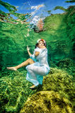 Dancing underwater Royalty Free Stock Photography