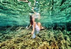 Dancing underwater Stock Image