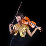 Dancing violinist Stock Photo