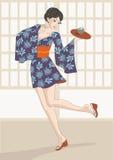 Dancing Waitress Stock Image