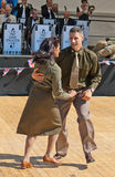 Dancing wartime soldiers royalty free stock photo