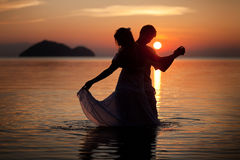 Dancing on water Stock Photography