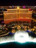 Dancing Water Fountain In Las Vegas Stock Images