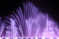 Dancing water fountain show. In Protaras, Cyprus, a horizontal picture Royalty Free Stock Images