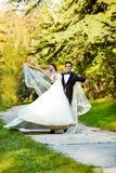Dancing wedding couple Royalty Free Stock Photo
