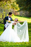 Dancing wedding couple Royalty Free Stock Photo