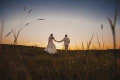 Dancing wedding couple Stock Photos