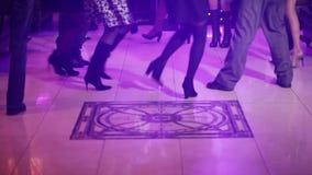 Dancing wedding stock video