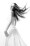 Dancing in white Royalty Free Stock Image