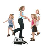 Dancing With Clipping Path Stock Photo