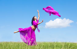 Dancing woman Stock Images