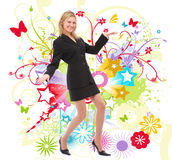 Dancing woman Royalty Free Stock Image