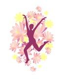 Dancing woman. Vector illustration of a dancing woman Stock Image