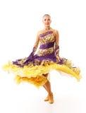 Dancing woman beauty. Fandango, flamenco, samba Royalty Free Stock Photos