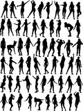 Dancing woman collection Stock Photos