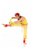 Dancing woman headset Royalty Free Stock Image