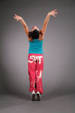 Dancing Woman In Sportswear Behind Stock Images