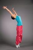 Dancing Woman In Sportswear On Tiptoe Royalty Free Stock Photography